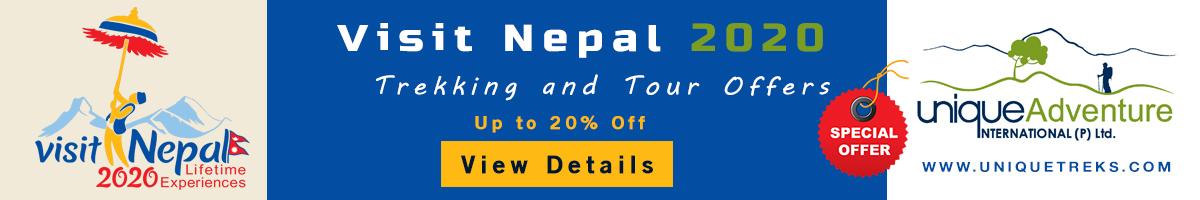 Visit Nepal 2020 offer