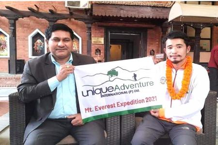 Congratulations Abraham Tagit Sorang on your Successful Advent of Mt. Everest