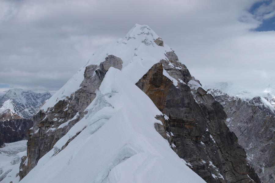Island, Lobuche peak with ABC