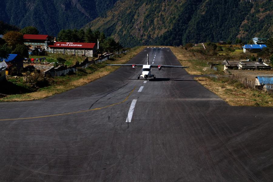 Landing at Tenzing - Hillary Airport, Lukla