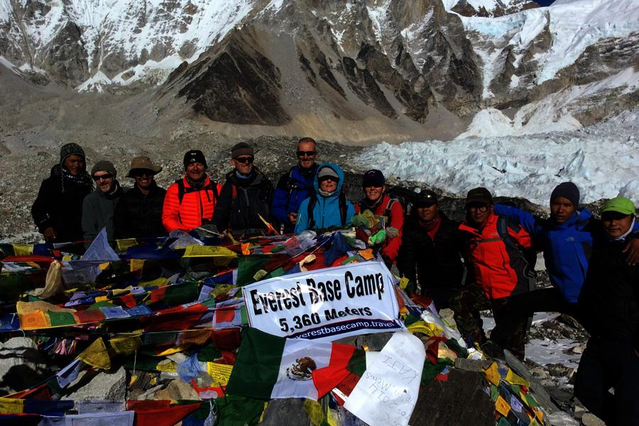 Trekkers successfully made the Everest Base Camp