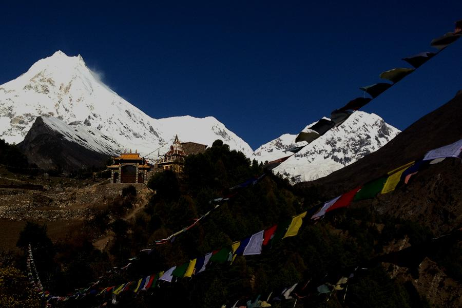View from Manaslu from Sama Gaon