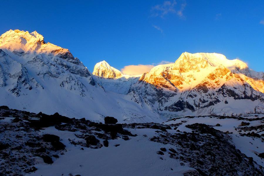 View of Larkya Peak