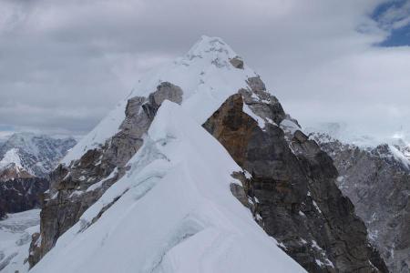 Island, Lobuche peak with ABC